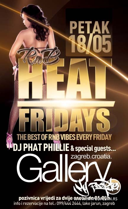 RNB Heat Fridays @ Gallery (Zagreb)