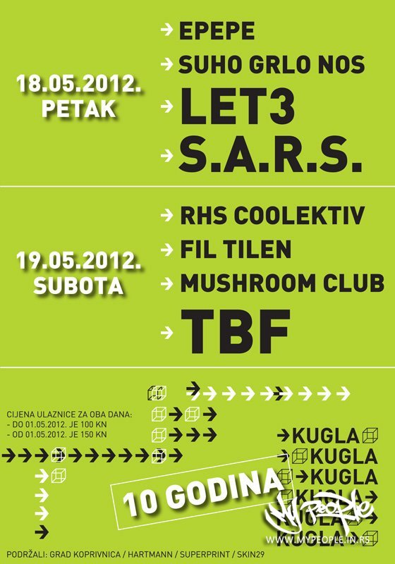 TBF, Fil Tilen i RHS Coolektiv @ MMC Kugla (Koprivnica)