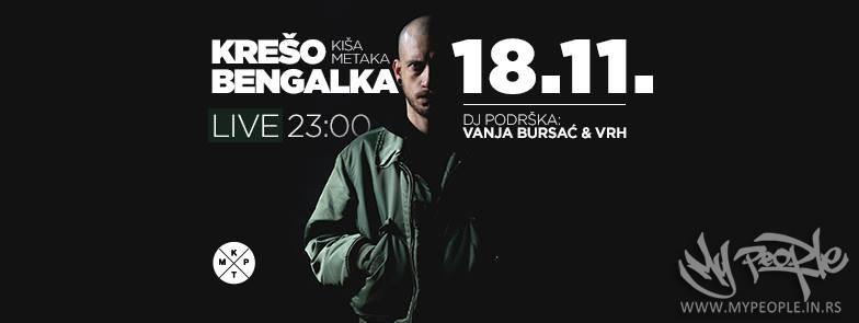Krešo Bengalka LIVE (DJ Podrška VRH & Vanja Bursać) @ KPTM