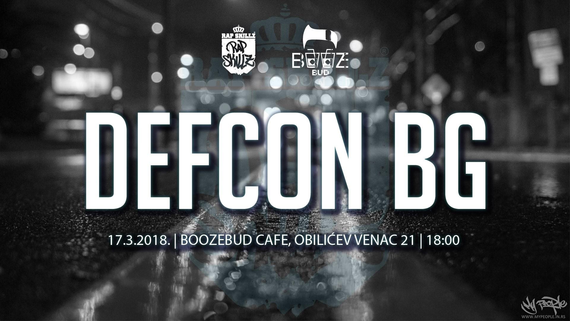Defcon 6/Defcon BG - Rap Battles @ BoozeBud Cafe