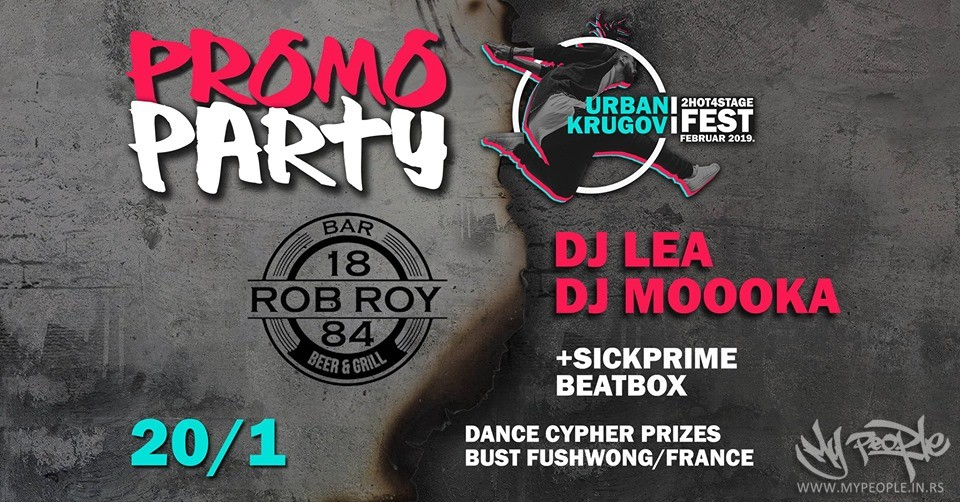 Urbani krugovi ║2H4S Fest party vol.2 @ RobRoy1884